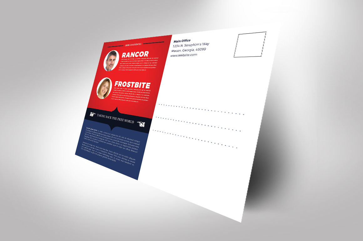 Political Flyer Mailer Photoshop Template 4 example image 3
