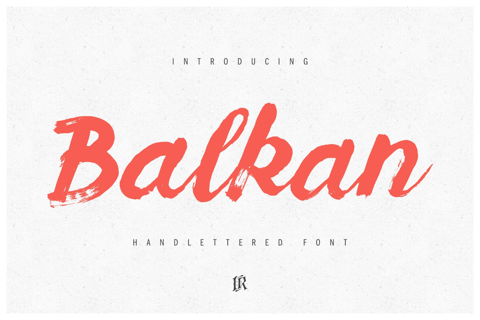 Balkan Font example image 1