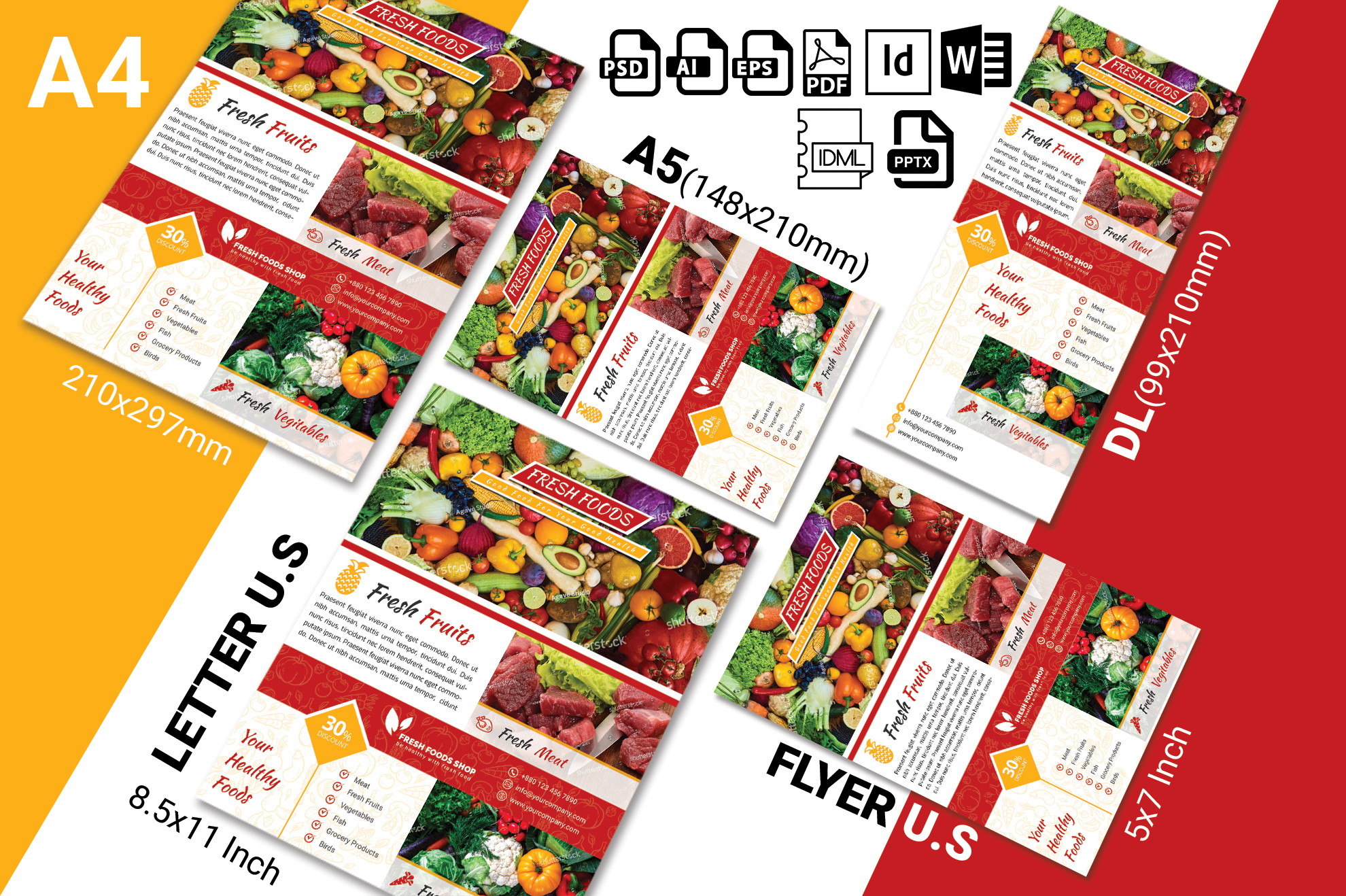 Fresh Food Grocery Shop Flyer Vol-01 example image 2