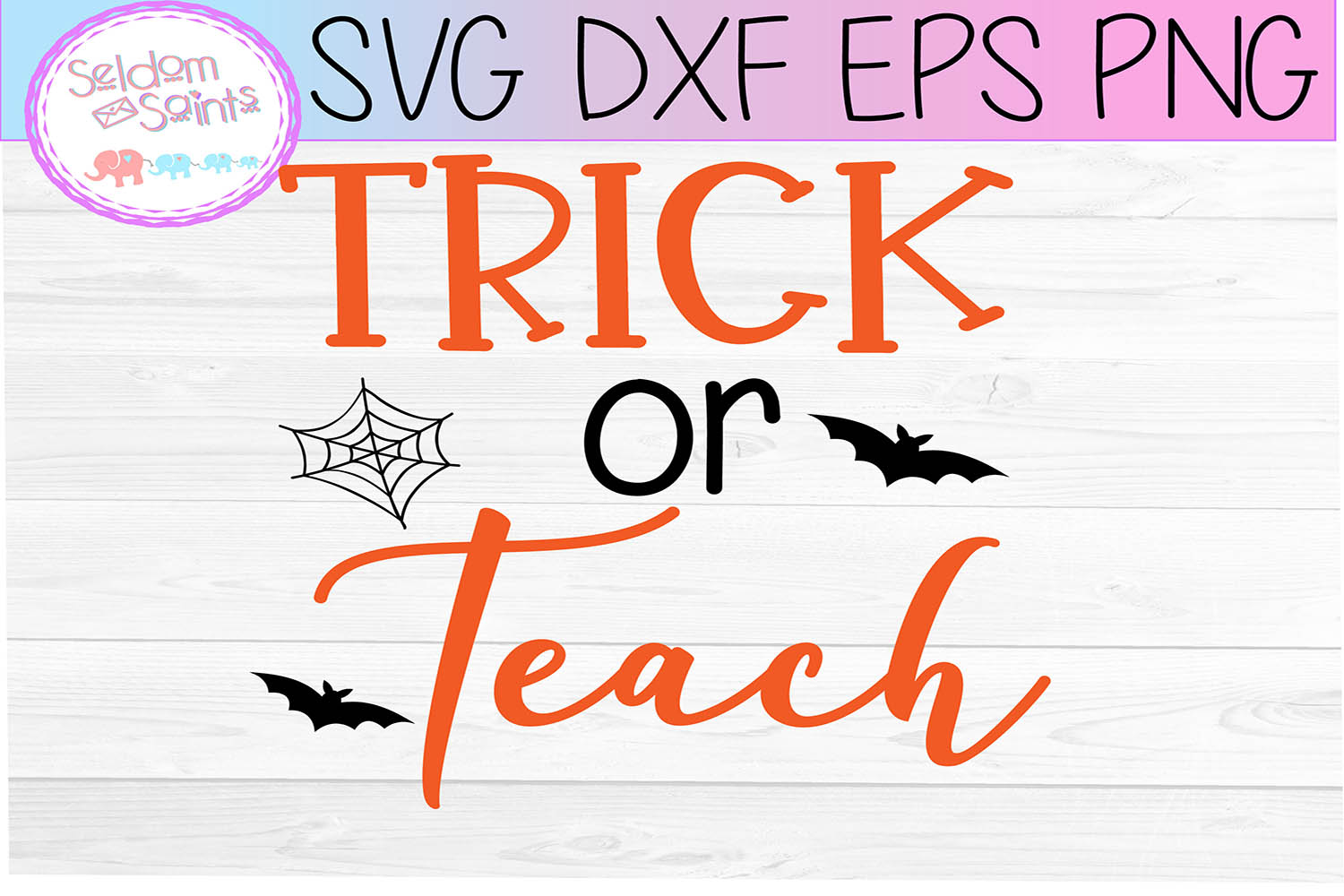 Trick or Teach SVG PNG EPS DXF example image 2