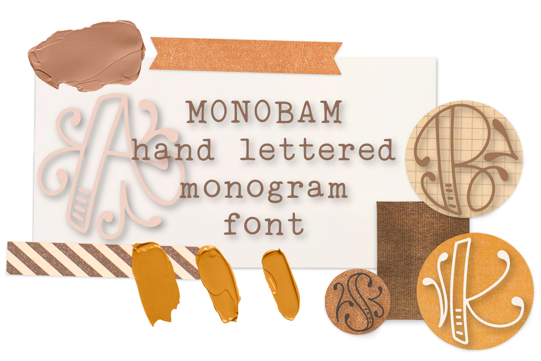 Monobam - Round Monogram Font example image 1