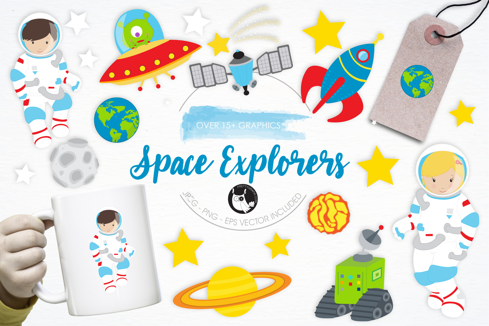 Space Explorers graphics and illustrations example image 1