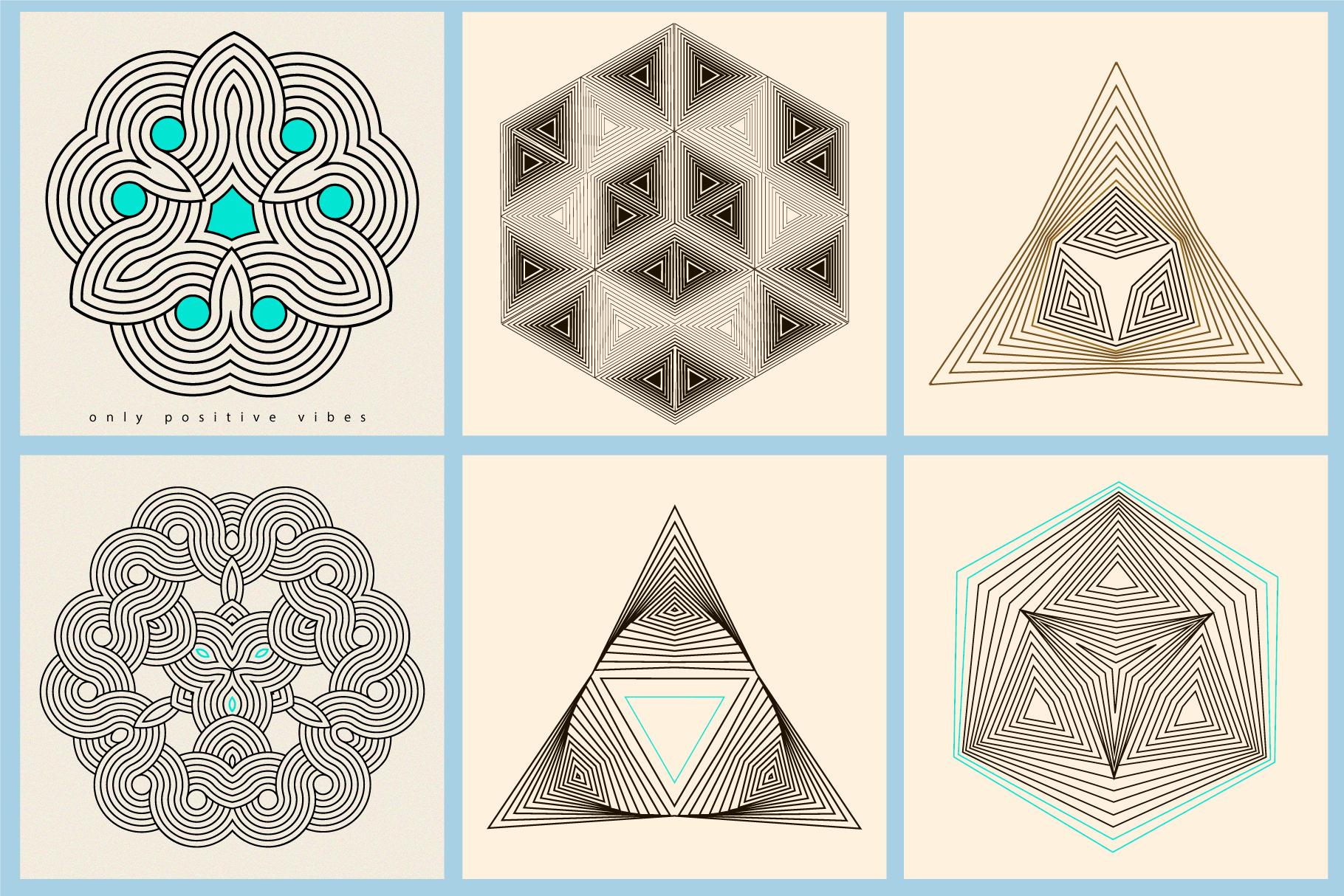 Illusion linear geometric shapes example image 10