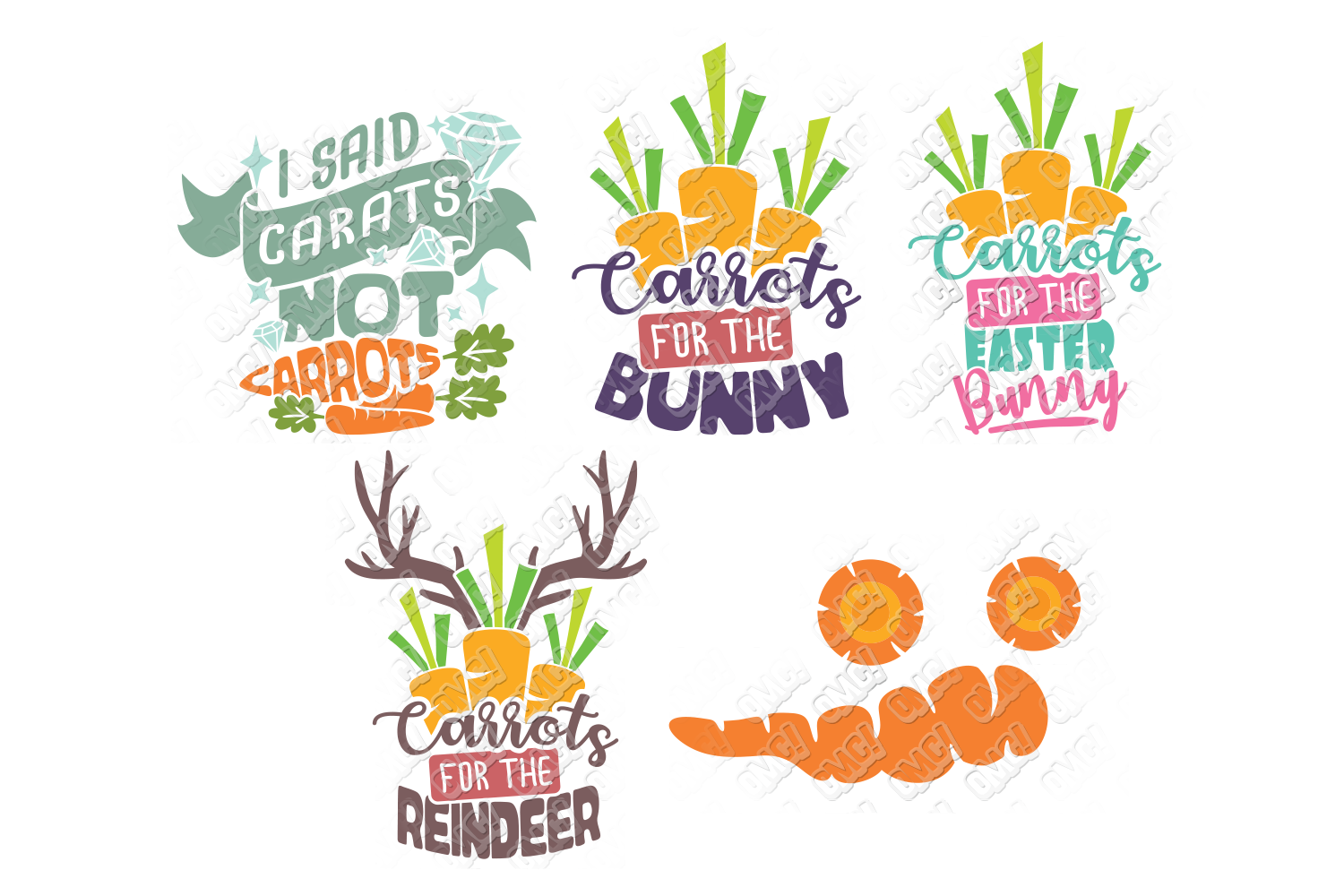 Carrot SVG Easter Monogram Quote in SVG, DXF, PNG, EPS, JPEG example image 5