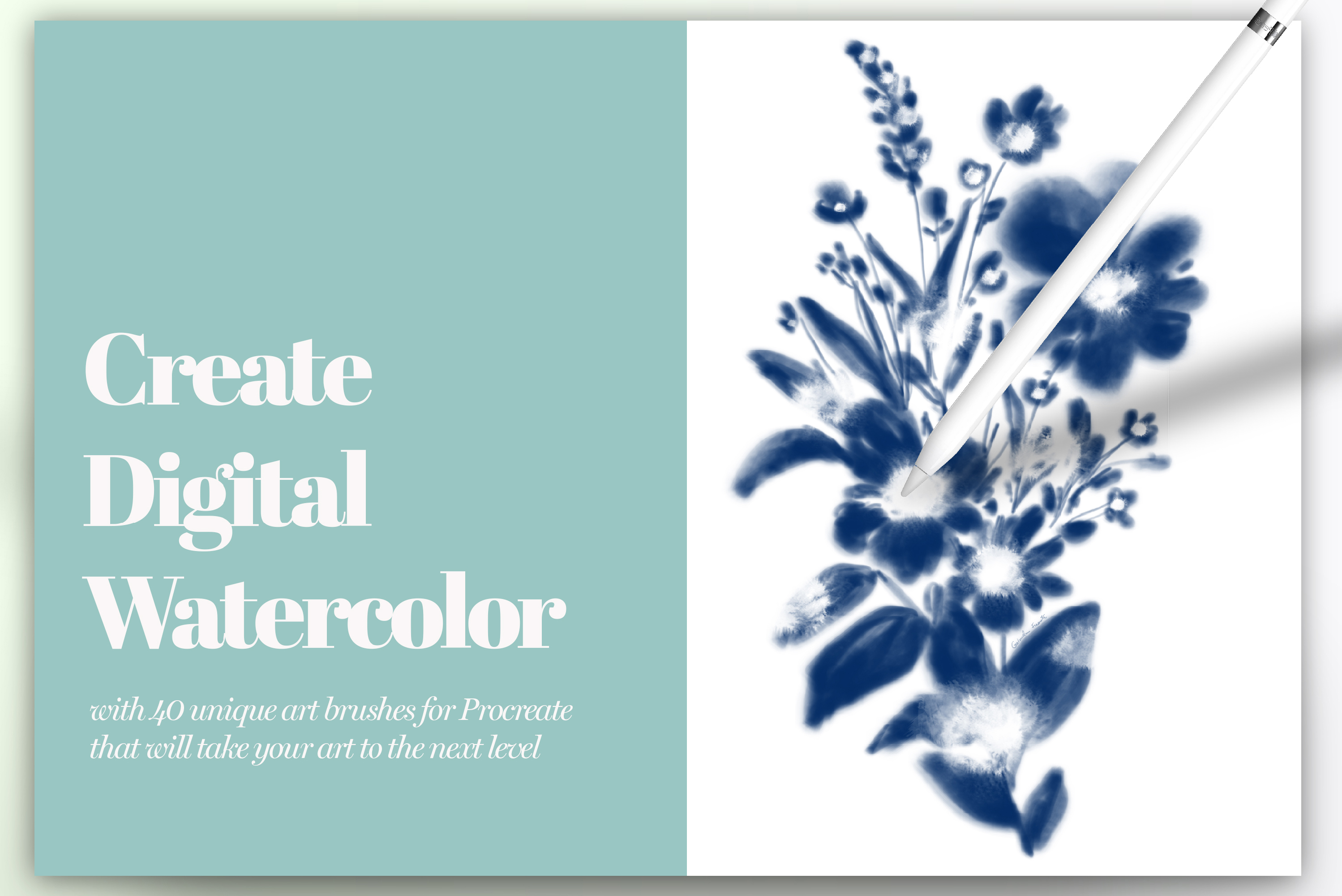 40 Artistic Painting Brushes for Procreate example image 2