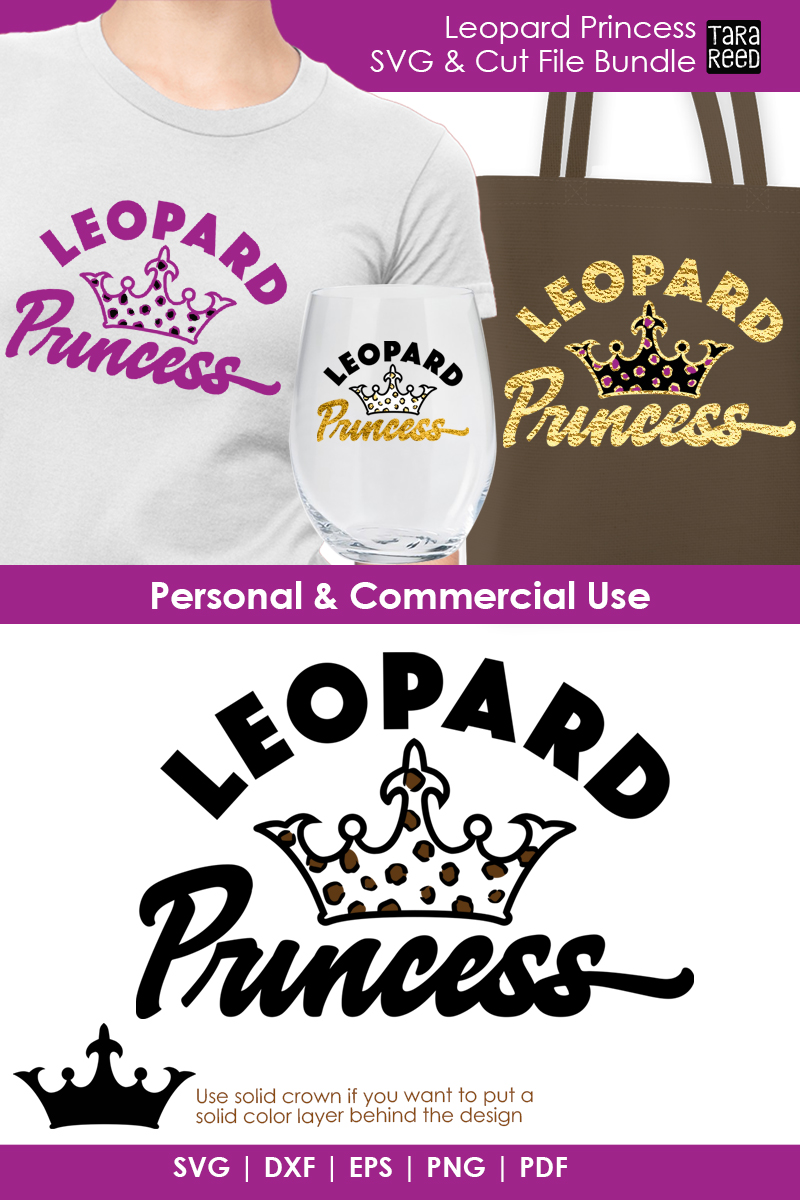Leopard Princess - Leopard Print SVG and Cut Files example image 3