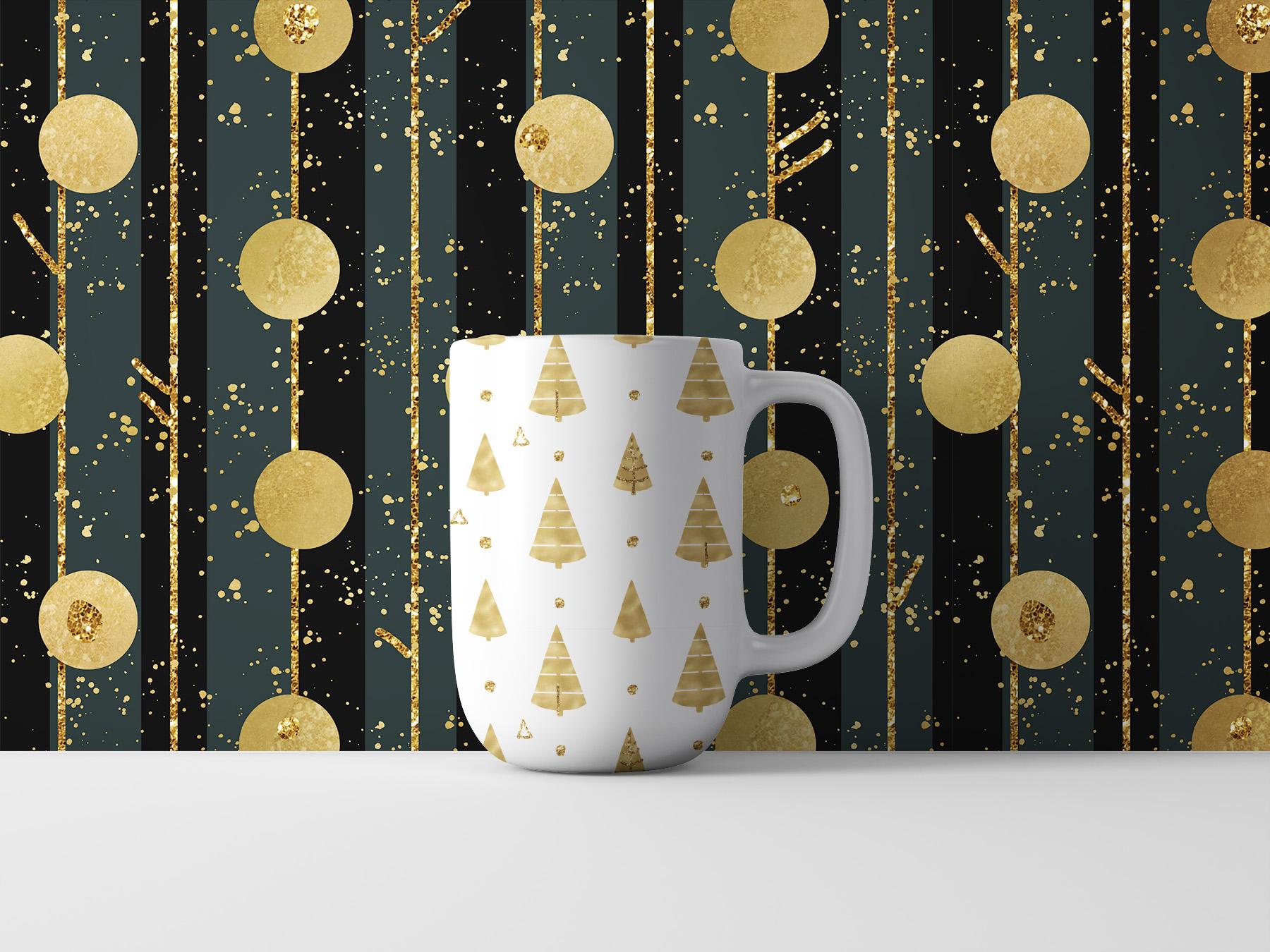 Christmas digital paper pack, seamless pattern snowflake example image 7