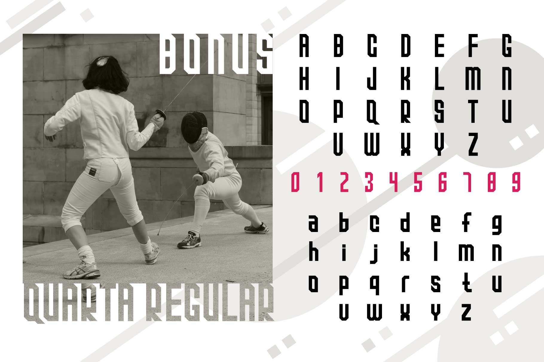 Quarta font family example image 6