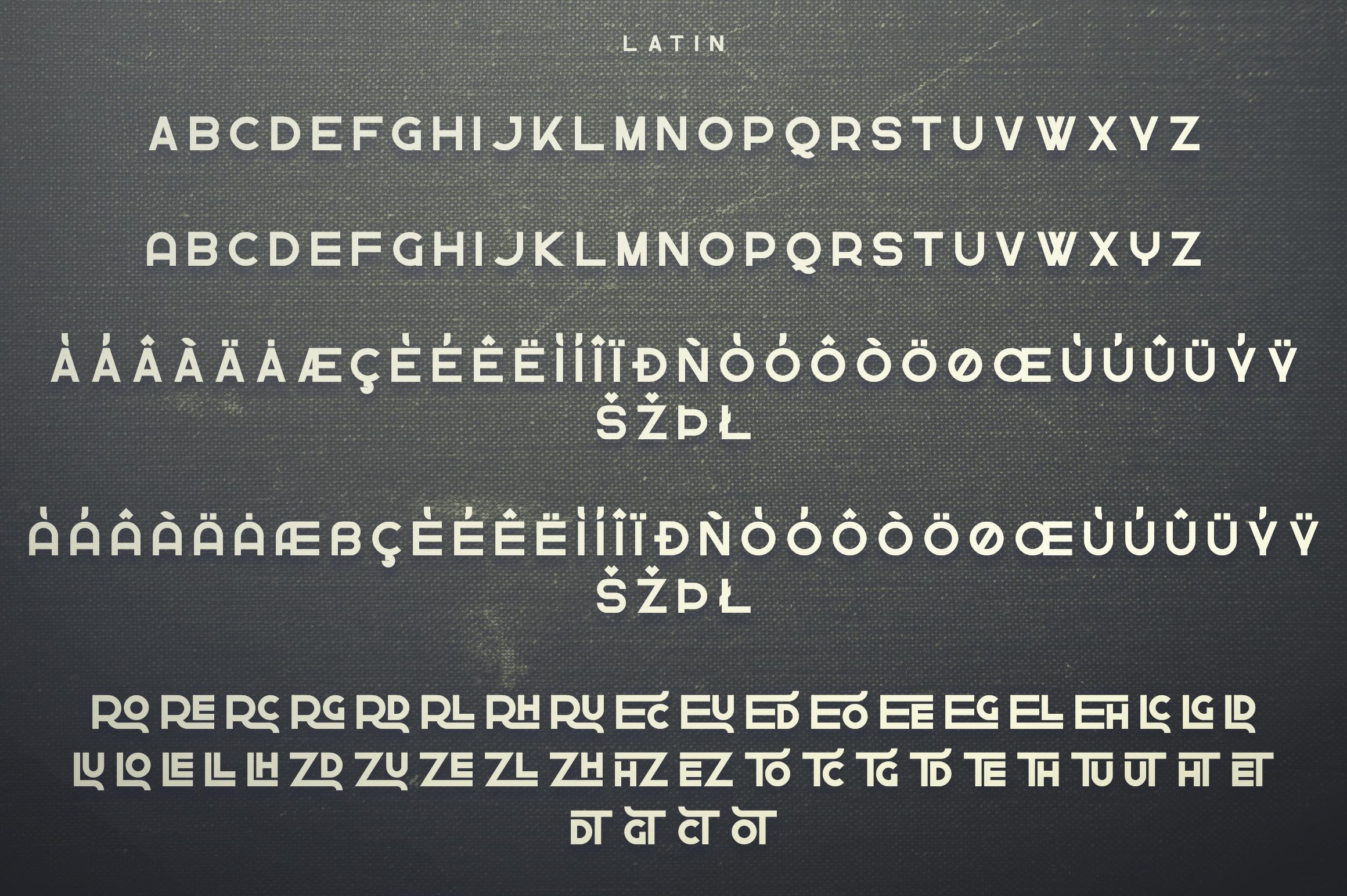 Greenth Display   Latin & Cyrillic example image 10