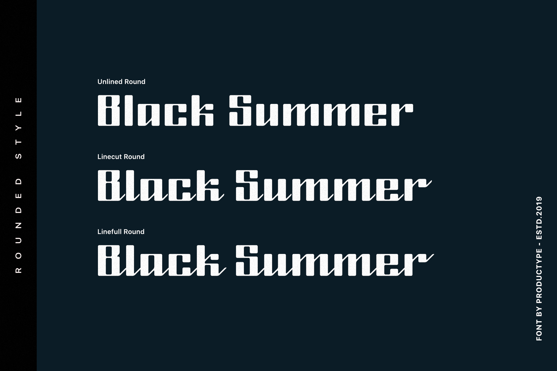 Black Summer Font Family example image 3