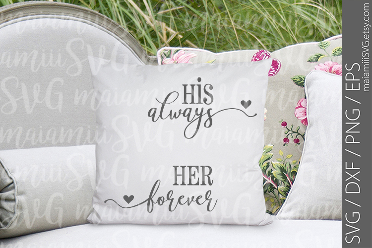 Cut File, Always And Forever Sign, Love Sign, Bedroom Sign example image 1