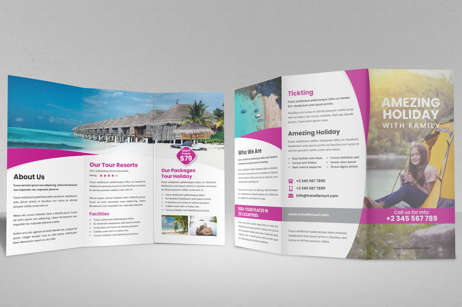Travel Resort Trifold Brochure v3 example image 8