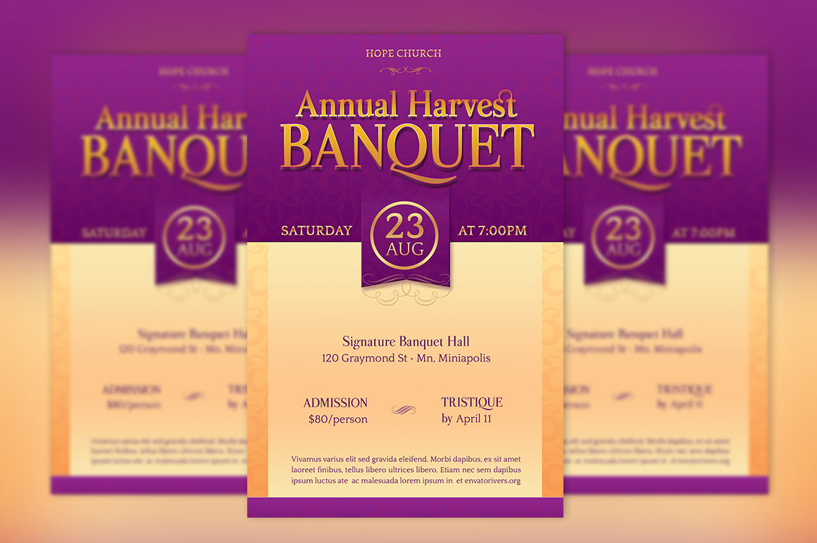 Harvest Banquet Flyer Template example image 2