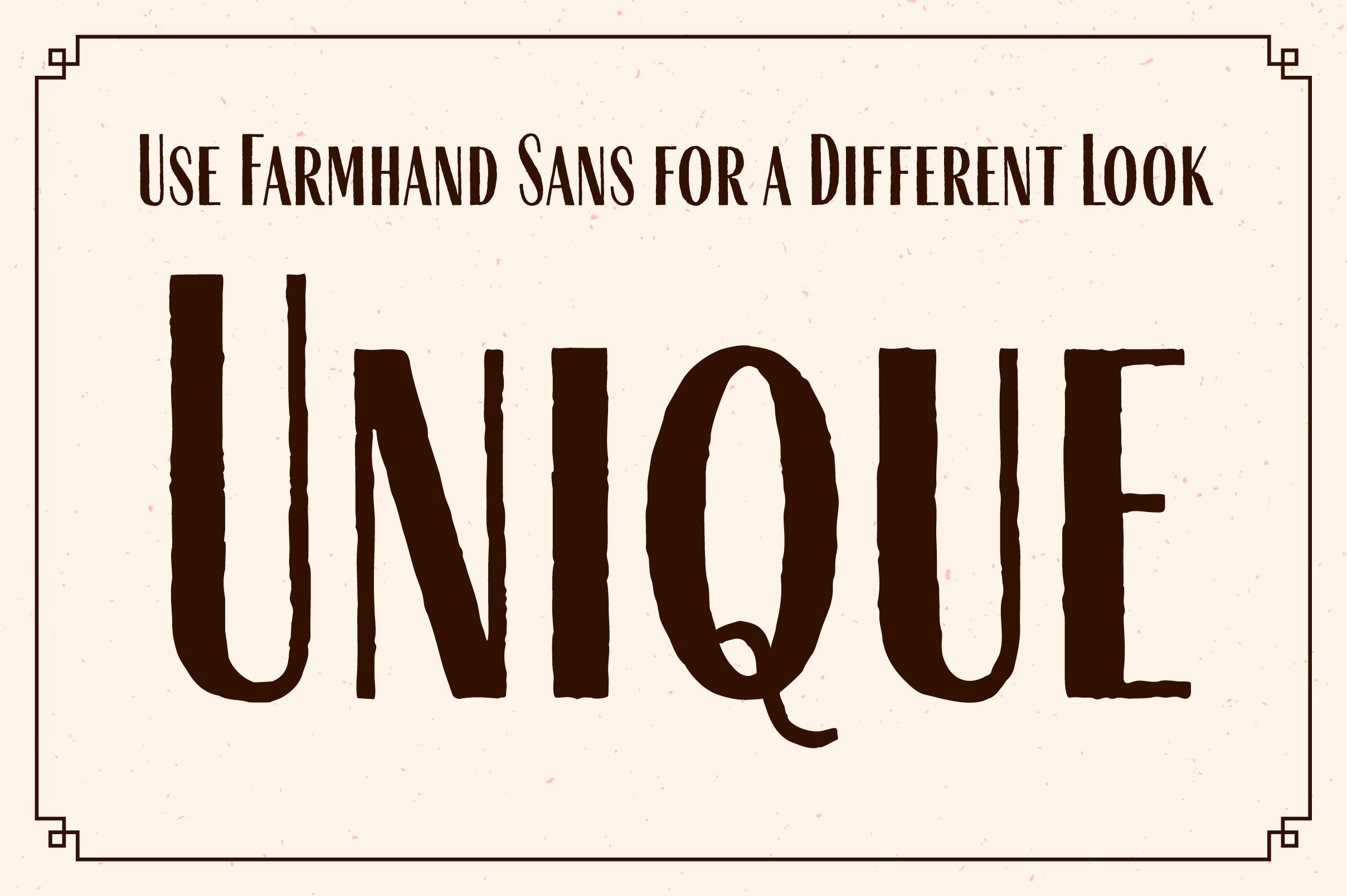 Farmhand Font Family example image 9