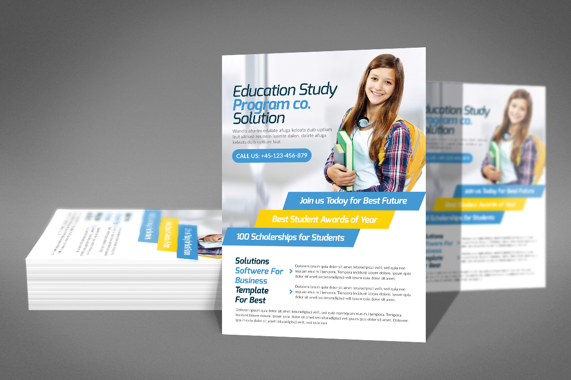 Kids School Flyer Psd example image 2
