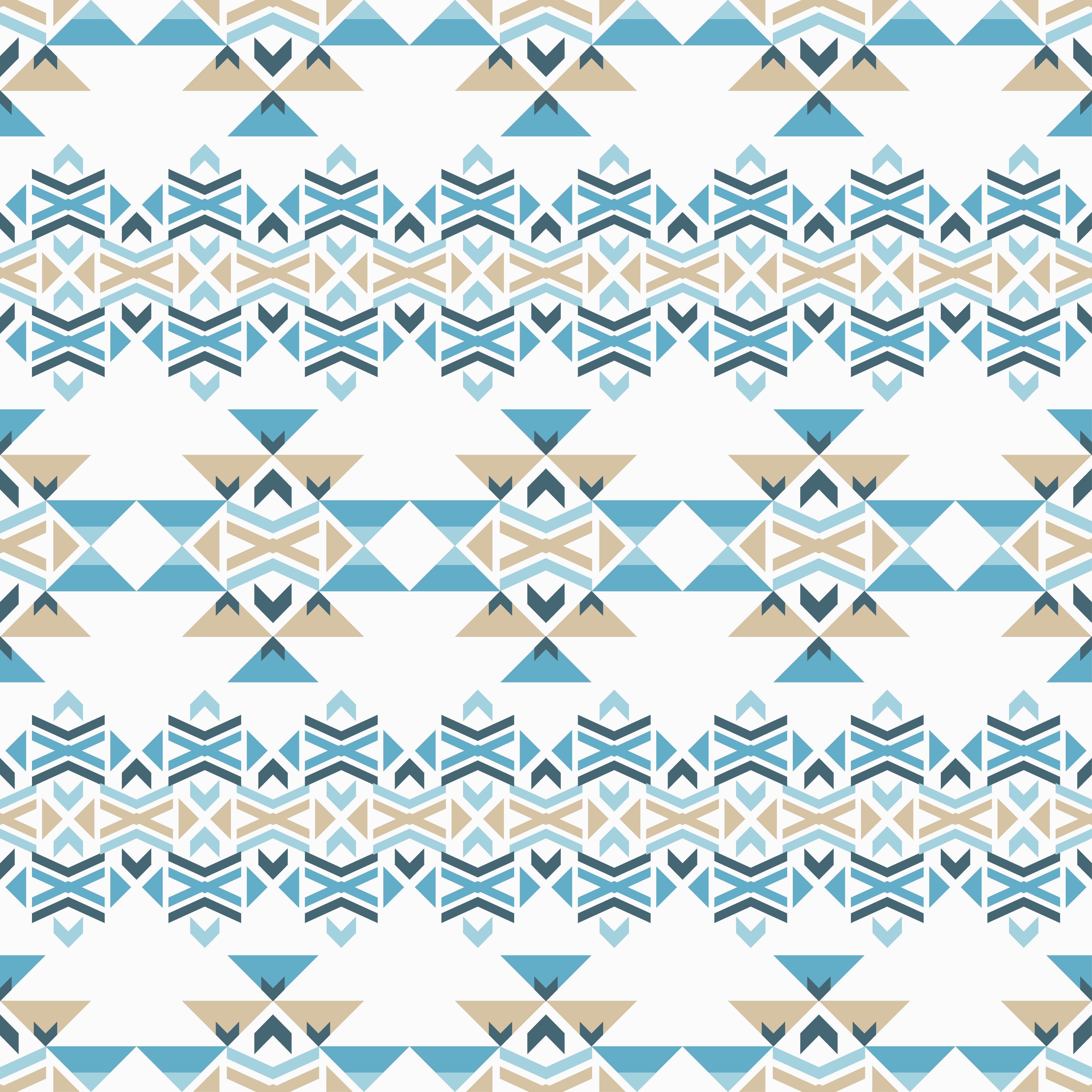 Set of 6 Ethnic boho seamless pattern. Tribal pattern.  example image 7