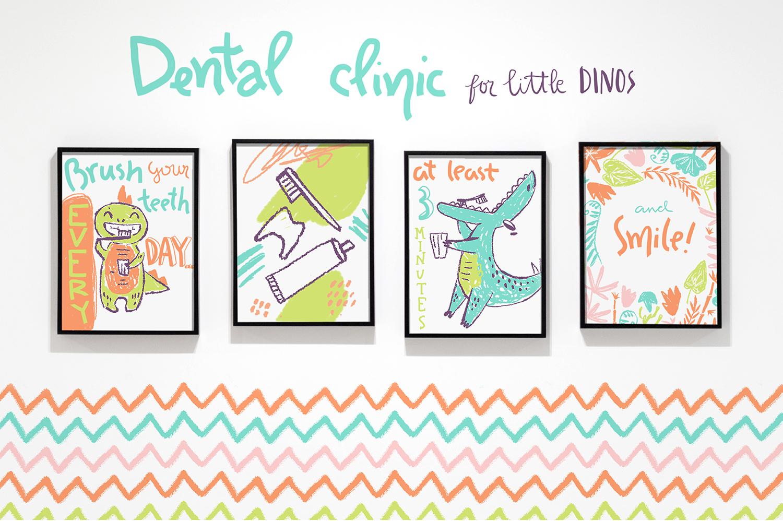 Hi, little DINO! Graphic kit example image 5