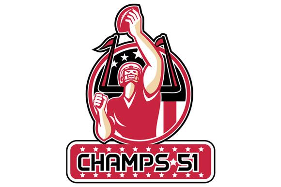 Football Champs 51 Atlanta Retro example image 1
