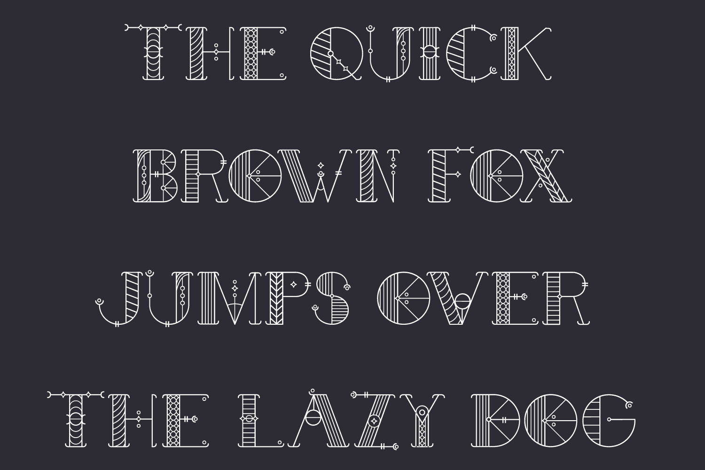 Alchimique Decorative Font example image 2