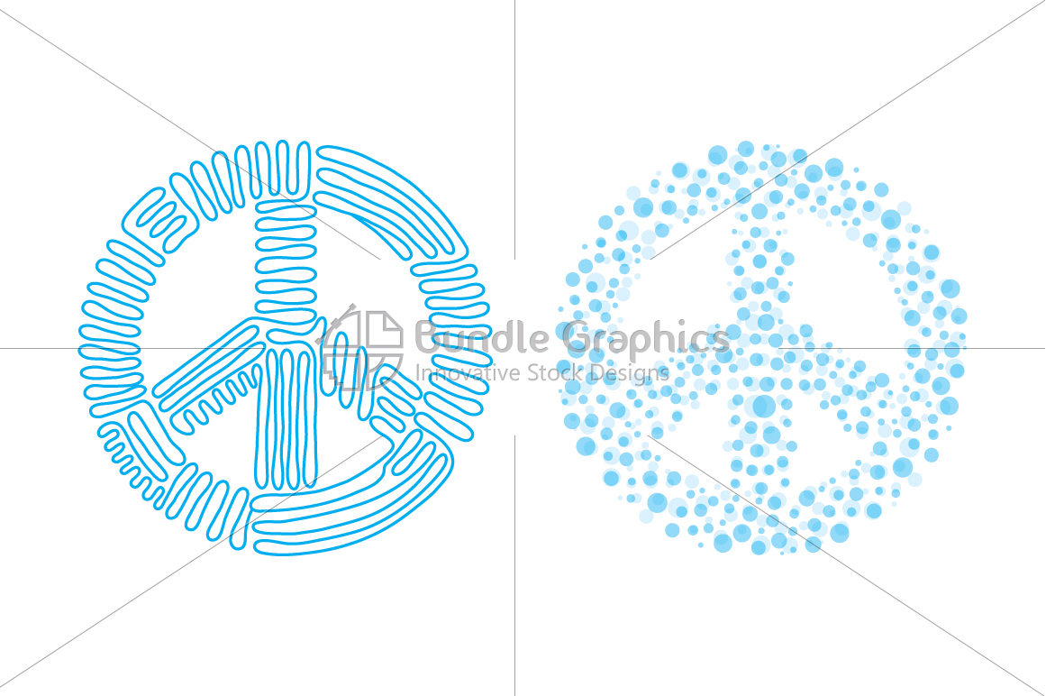 Smile, love, peace, balance - linear & dotted style Illustration Set example image 3