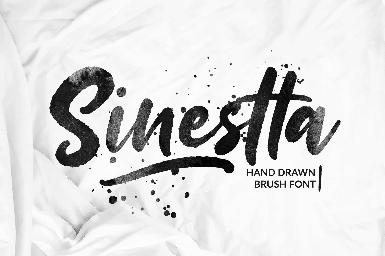Sinestta Brush Font example image 1