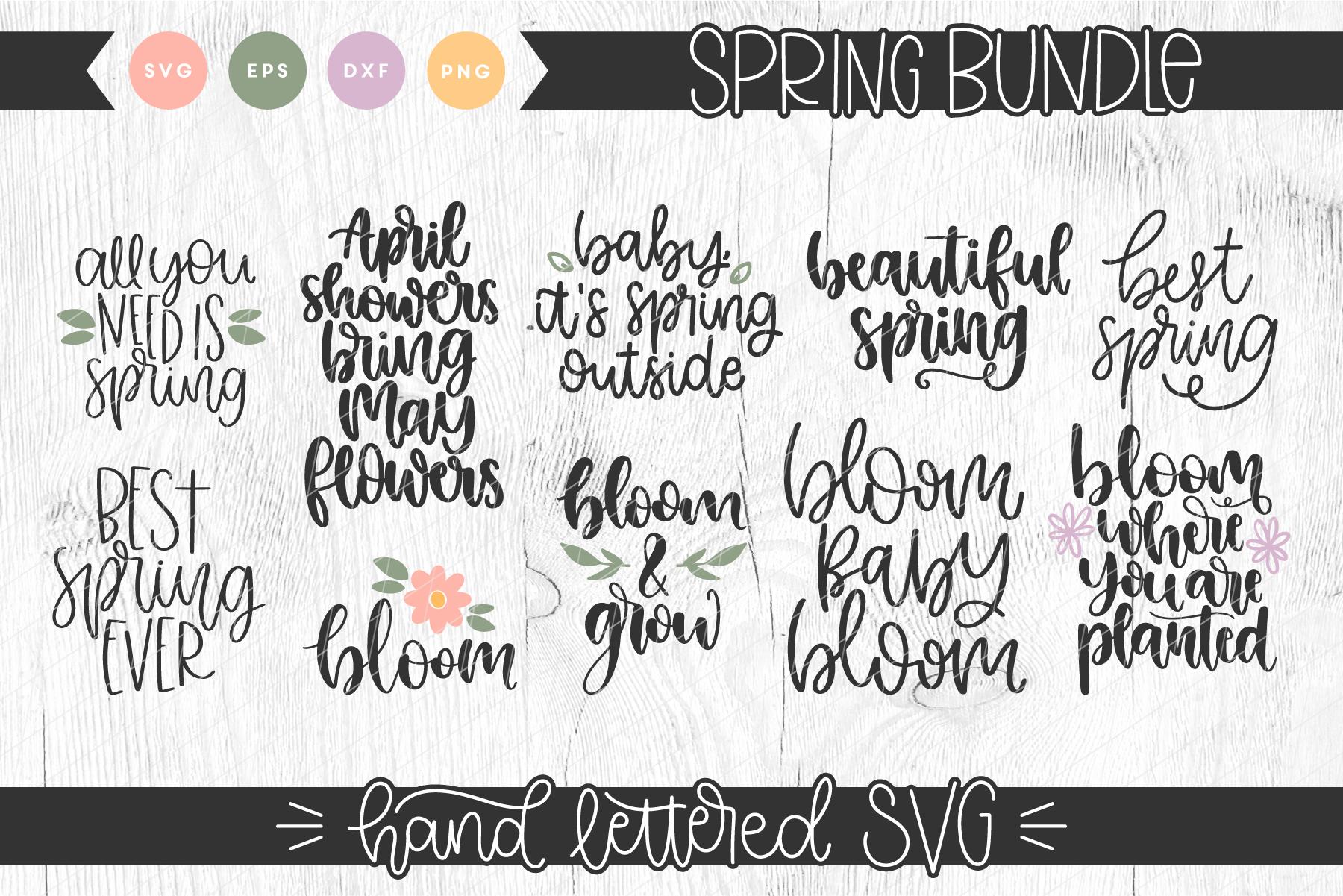 Hand Lettered Spring Bundle example image 1