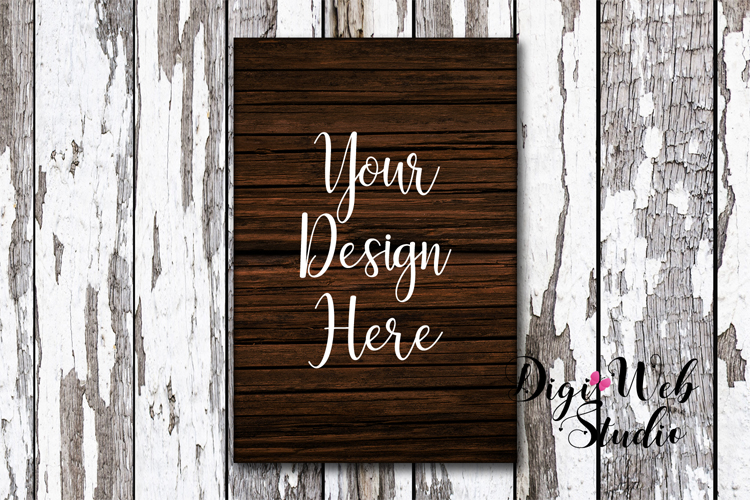 Wood Signs Mockup Bundle - 9 Piece Farmhouse Wood Signs 2 example image 5