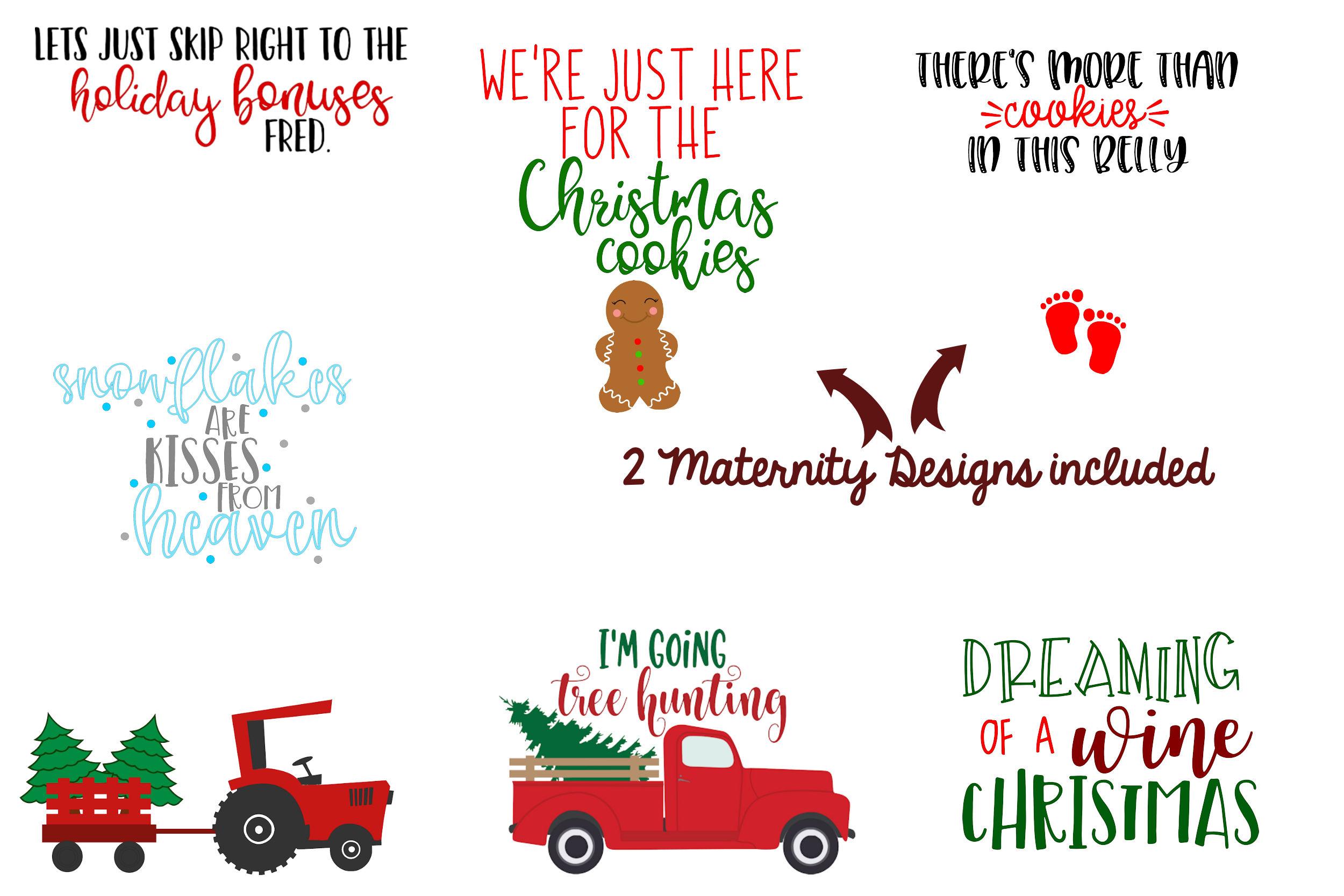 The Christmas Bundle - 30 Designs And 5 Mockups! example image 4