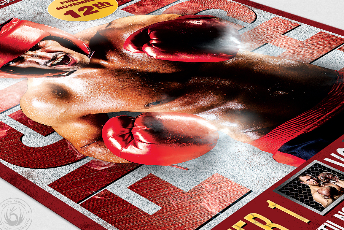 Fight Night Flyer Template V3 example image 6