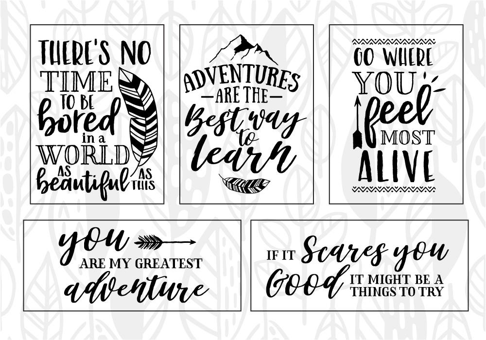 Adventure & Travel Quote SVG Cut File Bundle example image 2