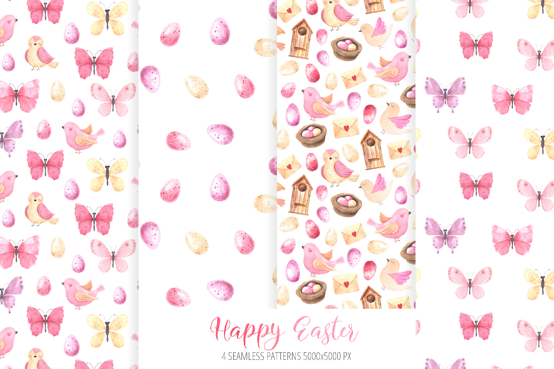 Watercolor Happy Easter Collection example image 5