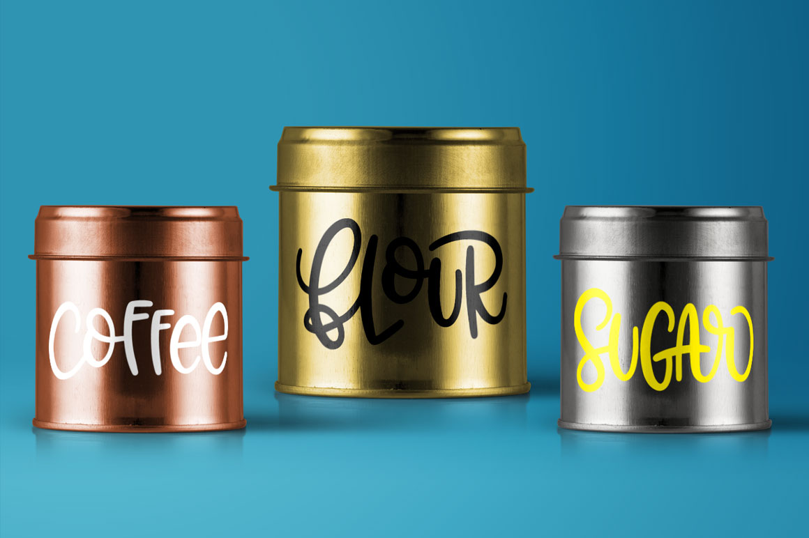 Kitchen Canister Label Set - Hand-Lettered example image 3