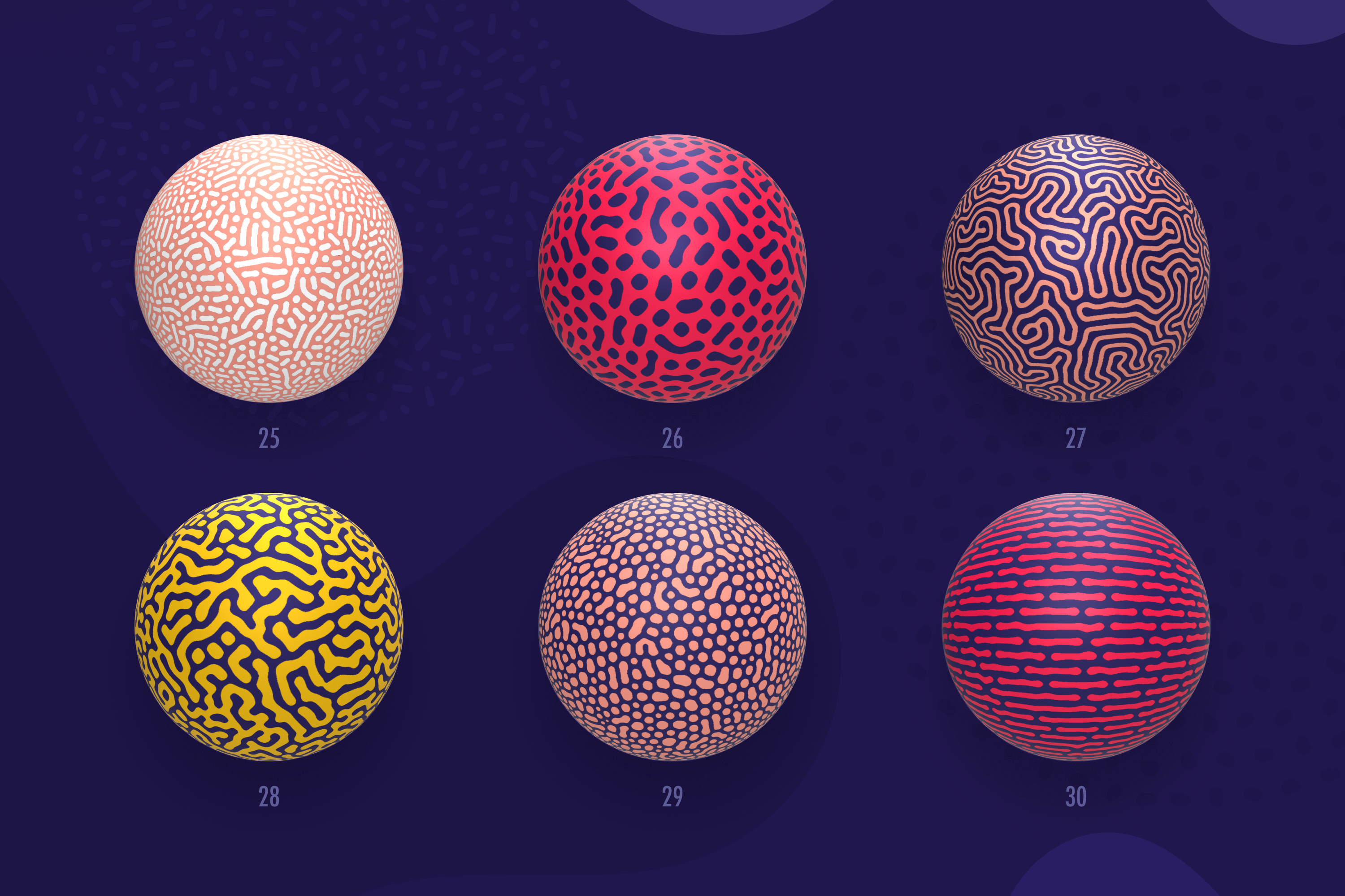 Organic Shapes 100 seamless textures collection example image 11