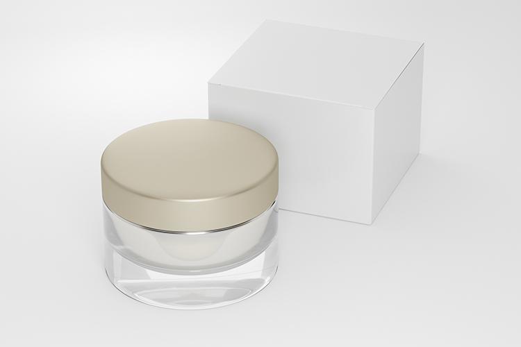 Cosmetic jar with cardboard box example image 4