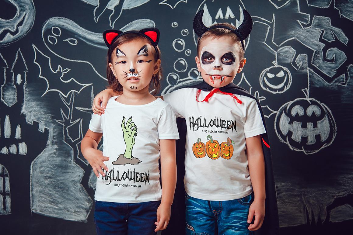 Halloween Kids T-Shirt Mock-Up example image 8