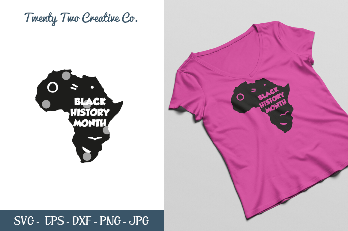 Black History Month Cut File - SVG, DXF, PNG, EPS, JPG example image 1