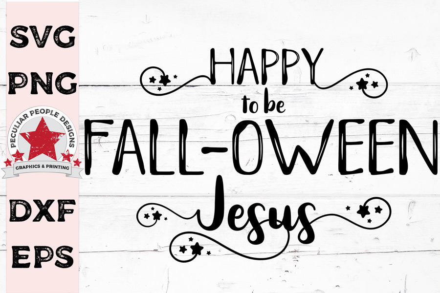 Cute Following Jesus SVG distress, funny Christian Halloween example image 1