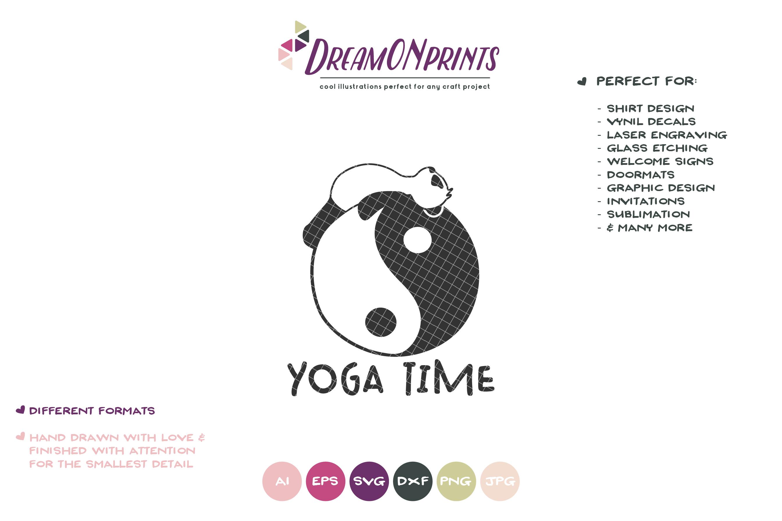 Funny Yoga Panda | Panda Bear SVG | Yoga Illustration example image 2