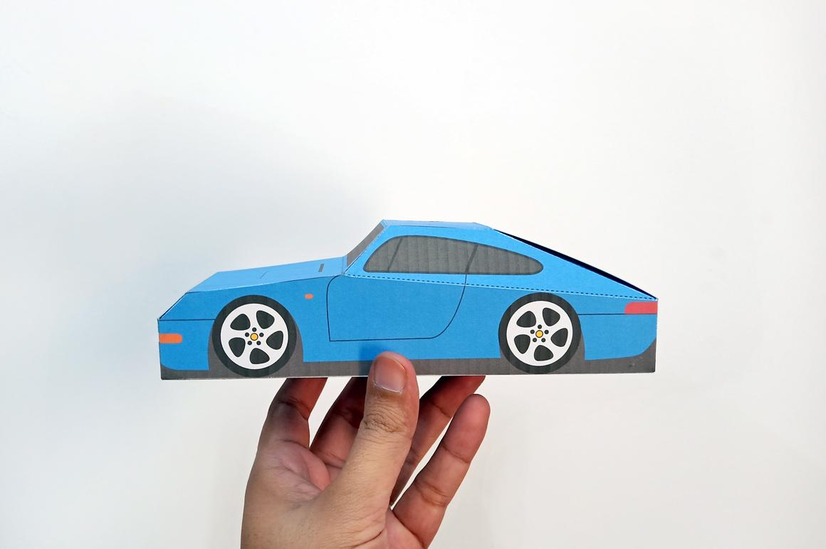 DIY Porsche Car favor - 3d papercraft example image 3