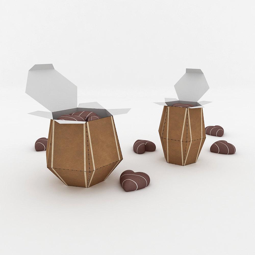 DIY Tabla Favor - 3d papercraft example image 2