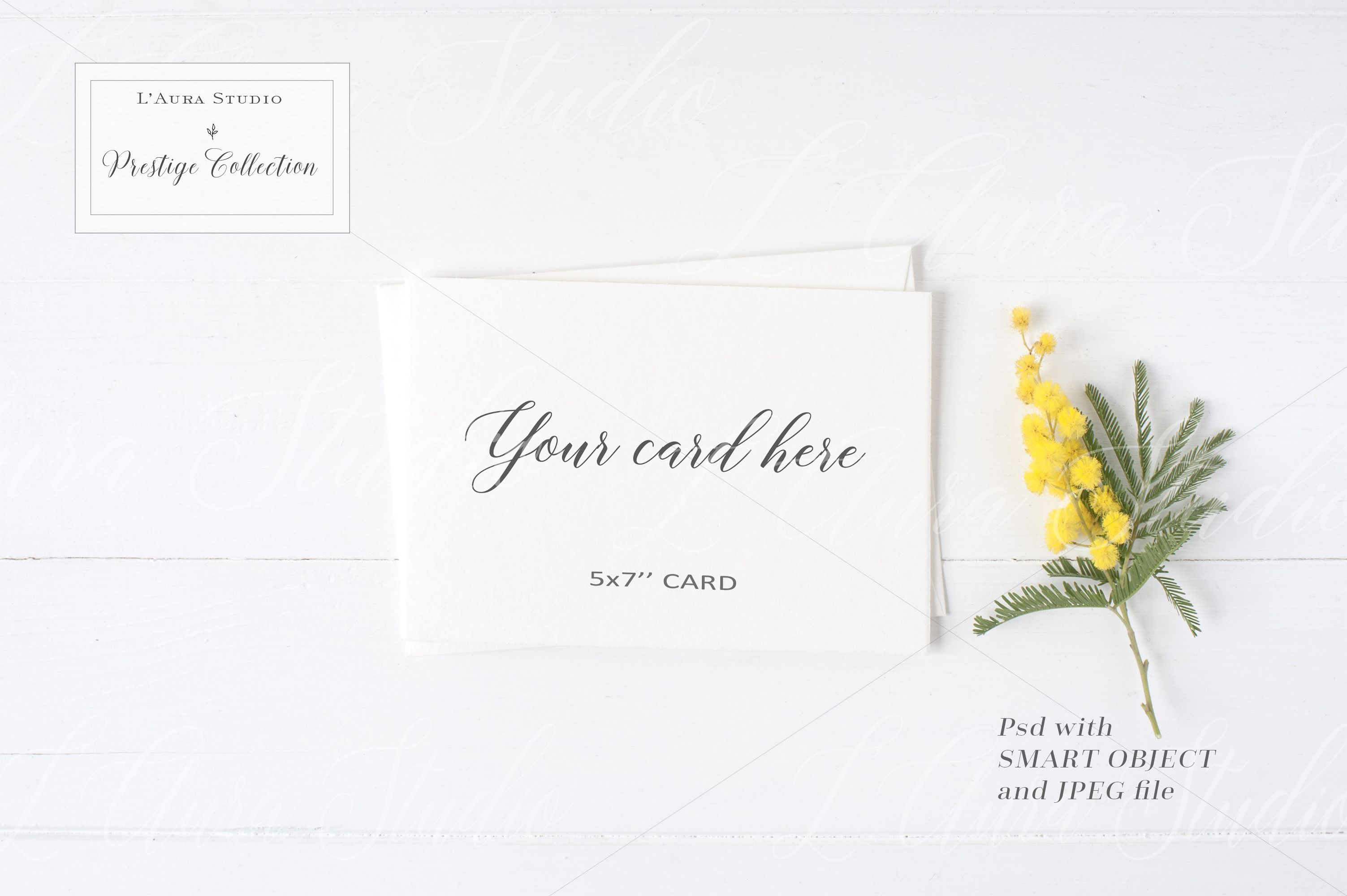 Floral Stationery Mockup - crd230 example image 1