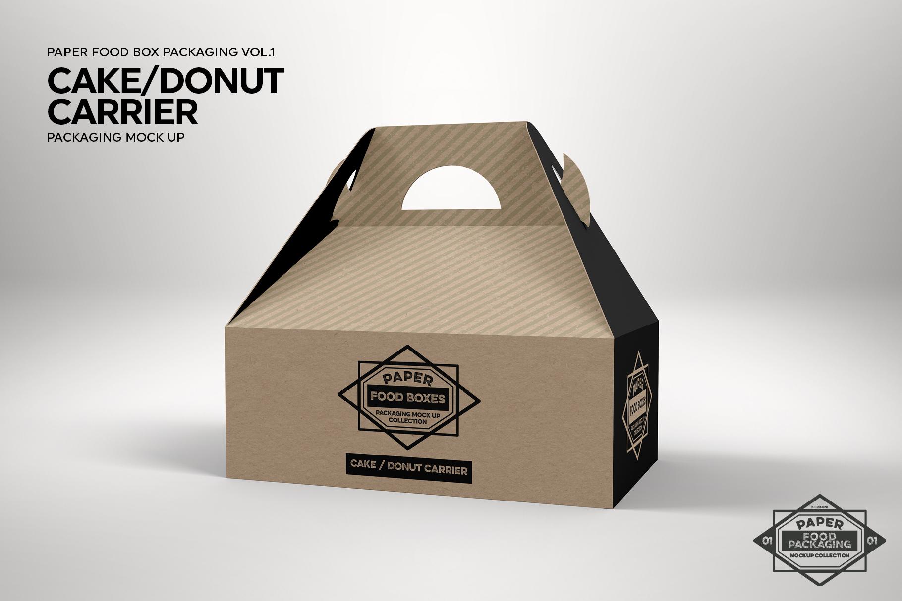 VOL.1 Food Box Packaging MockUps example image 20