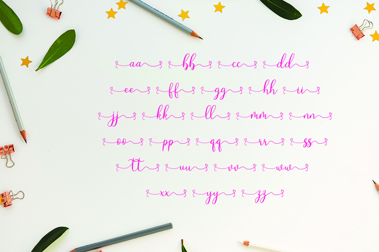 Loveyou - Romantic Font example image 7