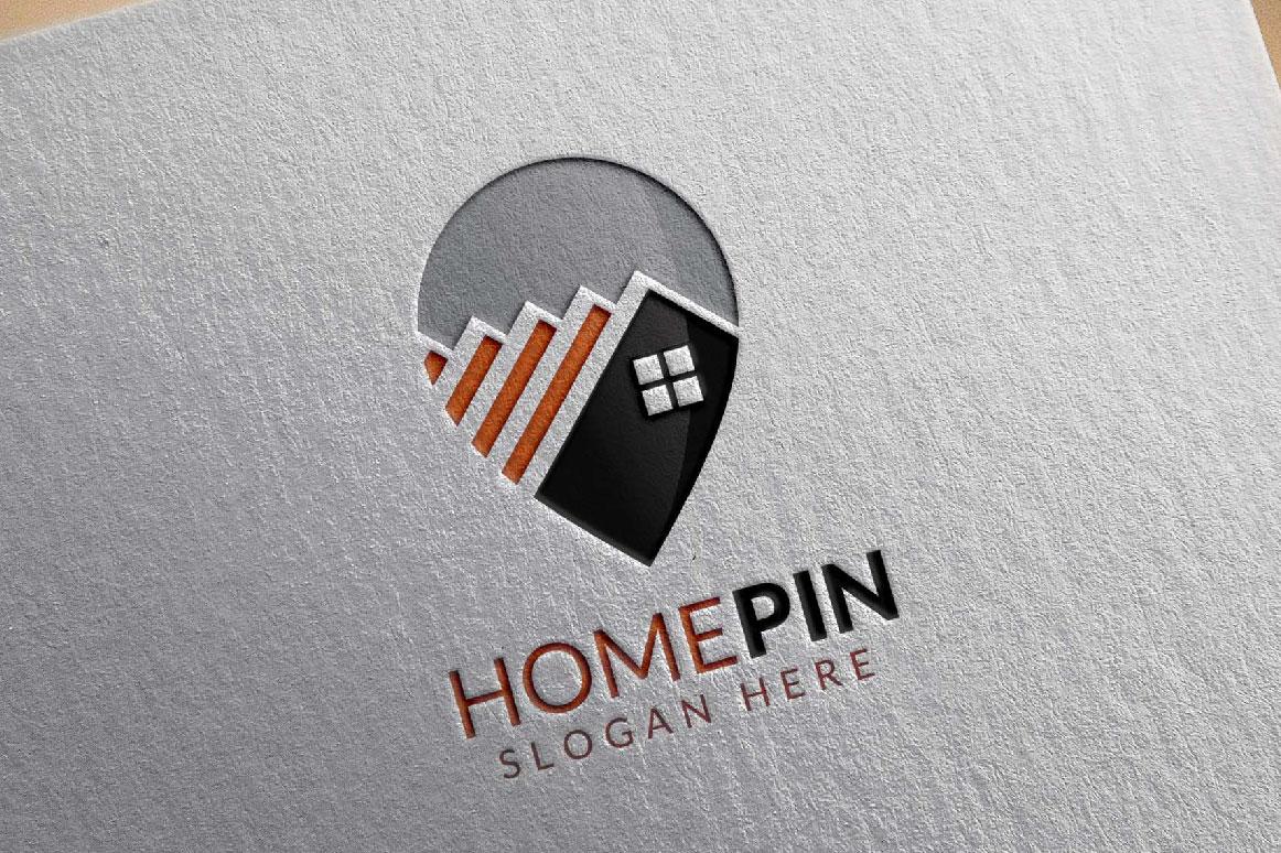 Home Pin Logo, Real estate logo example image 1