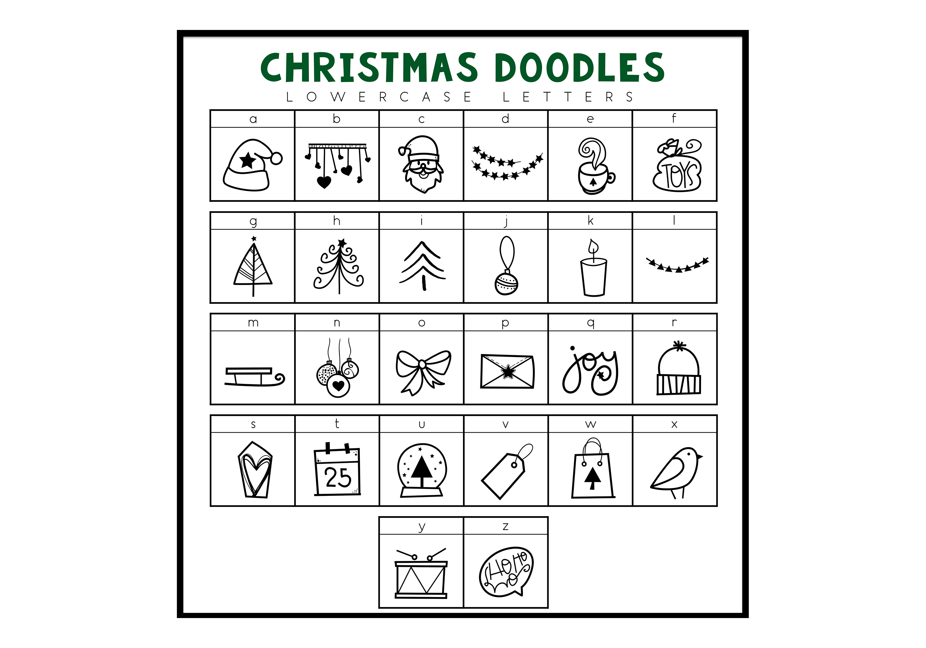 North Pole - A Christmas / Winter Doodles Font example image 3