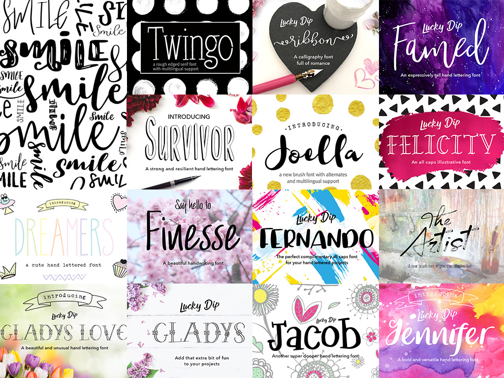 Joanne Marie 60 Font Bundle example image 4