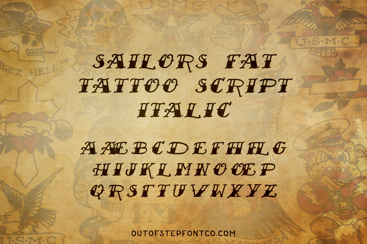 Tattoo Font Collection example image 16
