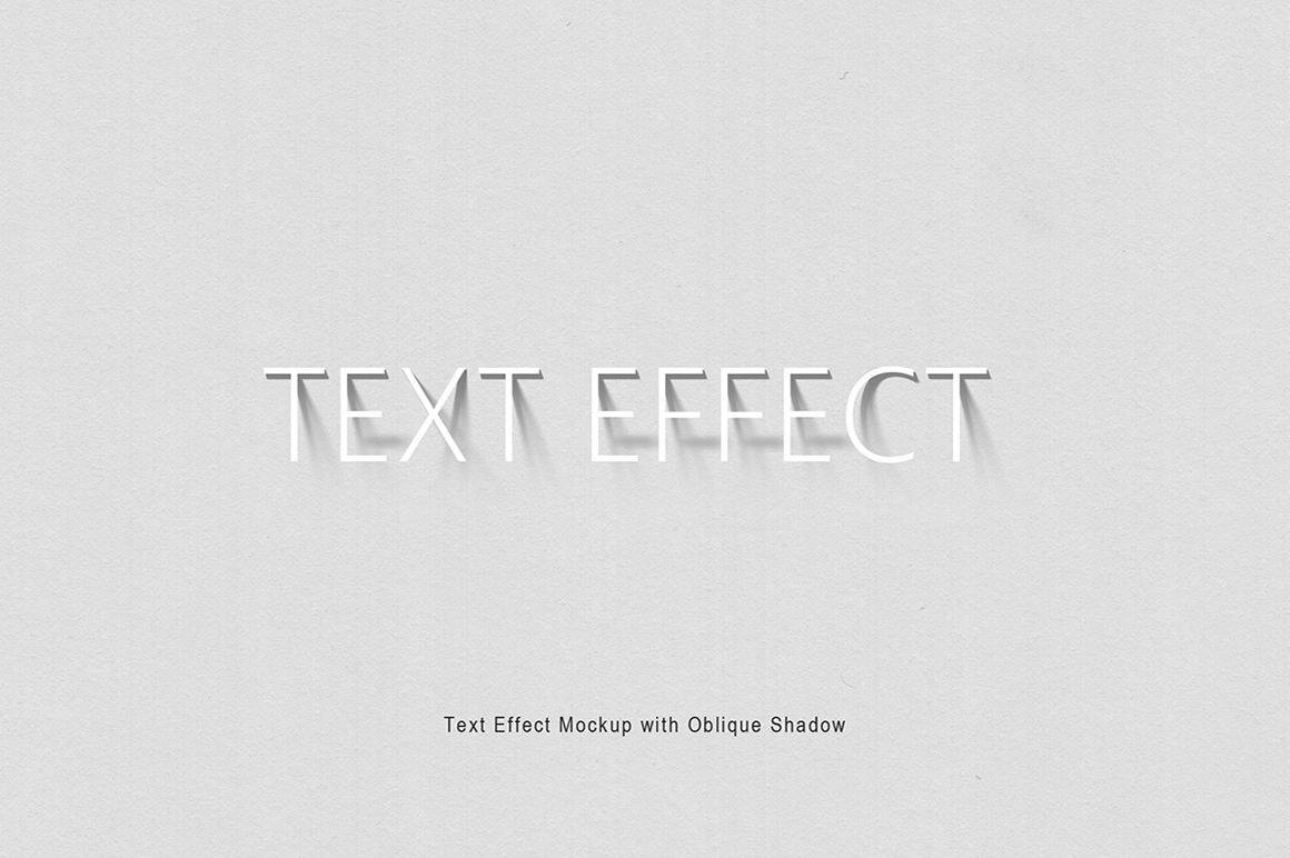 Text Effect Mockup with Oblique Shadow example image 3