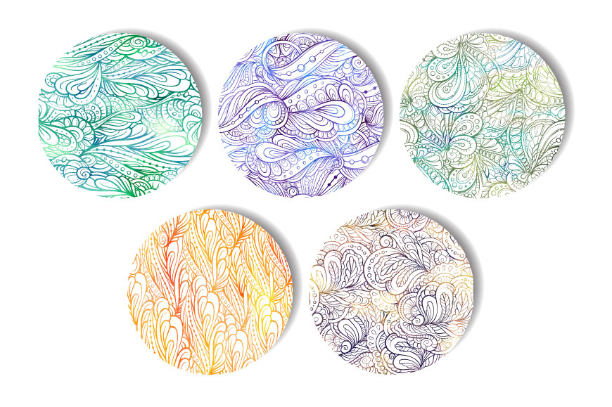 Fancy doodles seamless pattern set 2 example image 2