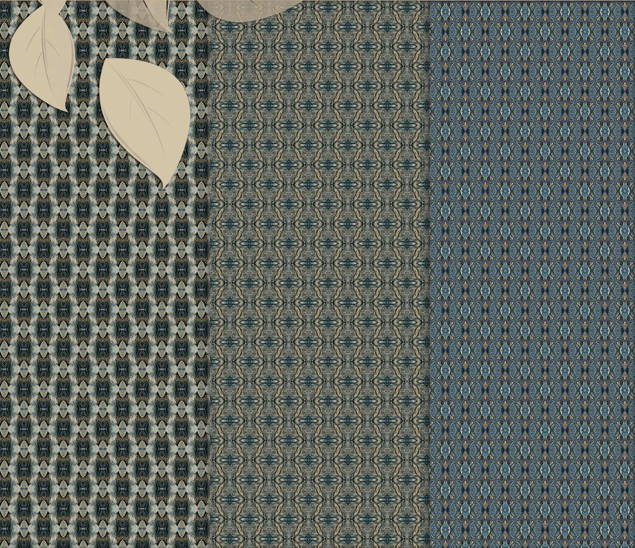 Old vintage blue-beige masculine Scrapbook Paper example image 6